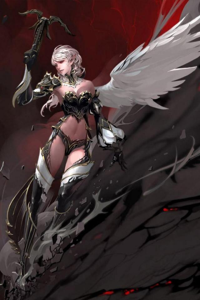 wallpaper iPhone Warrior Angel