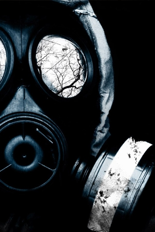 wallpaper iPhone Gas Masked