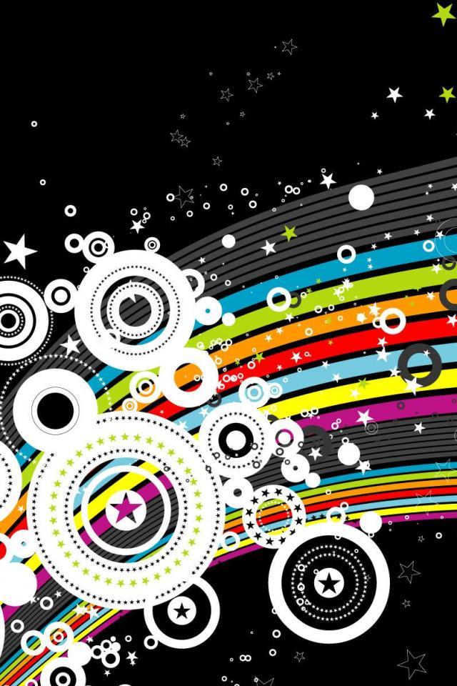 wallpaper iPhone Starry Rainbow
