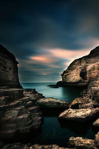 wallpaper iPhone Seaside Cliffs