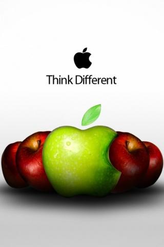 wallpaper iPhone Think Apple