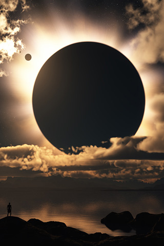 wallpaper iPhone Giant Eclipse