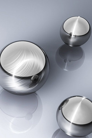wallpaper iPhone Silver Spheres