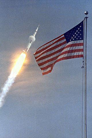 wallpaper iPhone Apollo 11 Launch