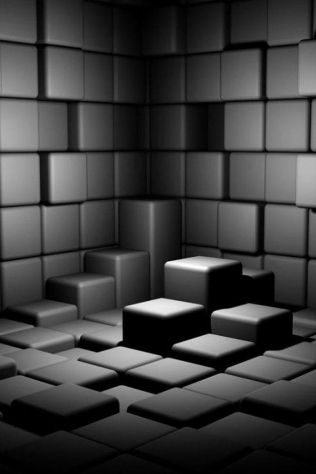 wallpaper iPhone Graphite Cubes