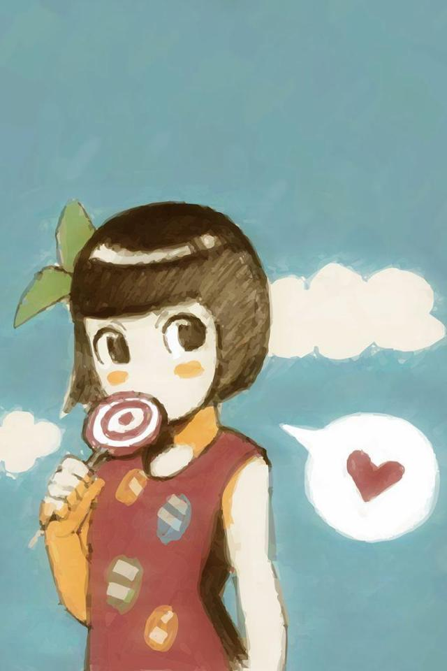 wallpaper iPhone Lolly Love