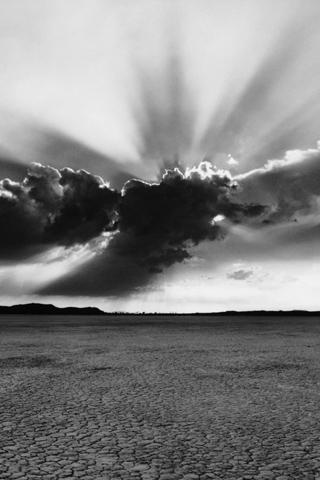 wallpaper iPhone Desert Clouds