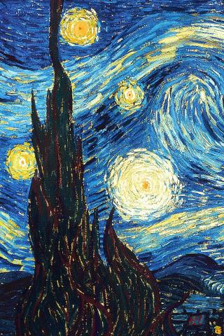 wallpaper iPhone The Starry Night
