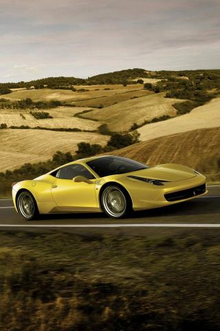 wallpaper iPhone Ferrari 458 Italia