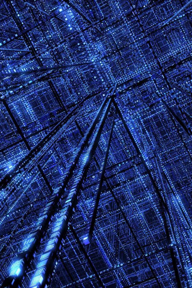 wallpaper iPhone Cyberspace Grid