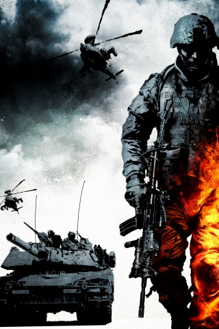 wallpaper iPhone Battlefield Bad Company 2