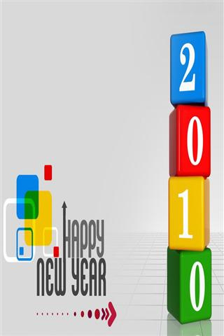 wallpaper iPhone Happy 2010