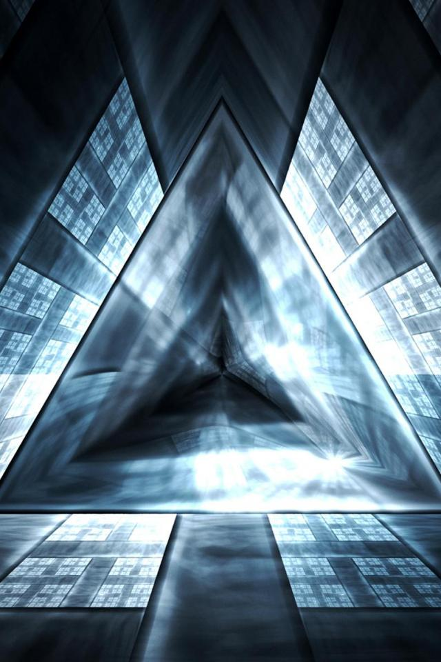 wallpaper iPhone Triangle Tunnel