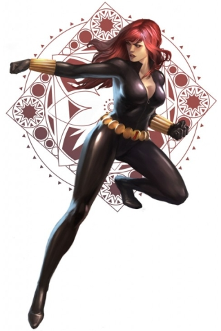 wallpaper iPhone Black Widow