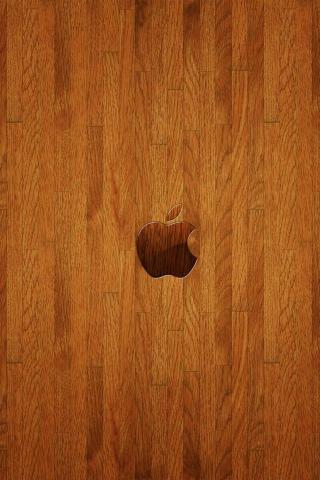 wallpaper iPhone Apple Wood