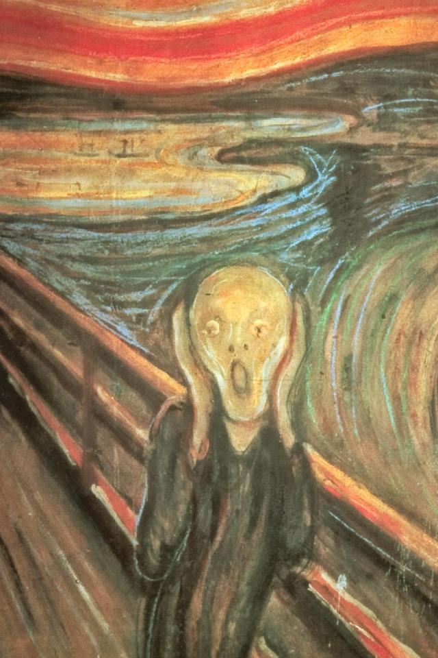 wallpaper iPhone The Scream