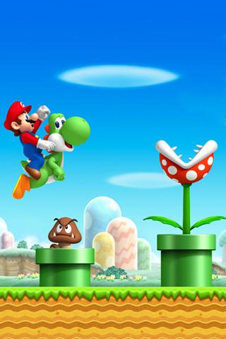 wallpaper iPhone Super Mario World