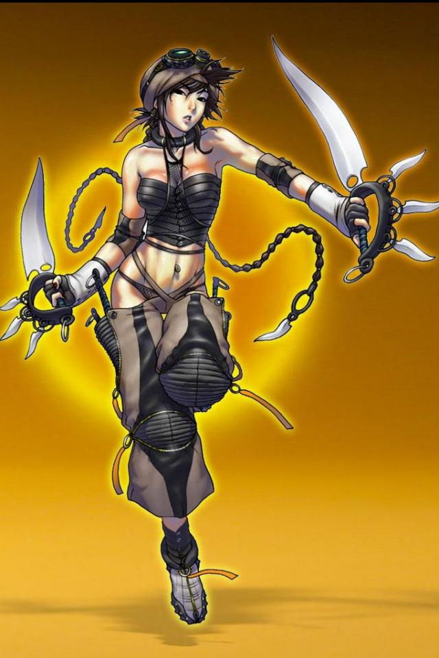 wallpaper iPhone Swordswoman