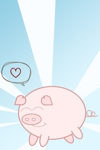 wallpaper iPhone iphone pig
