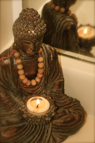 wallpaper iPhone Buddha Candle
