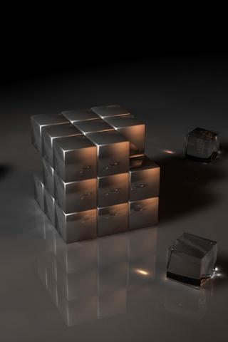 wallpaper iPhone Metal Cubes