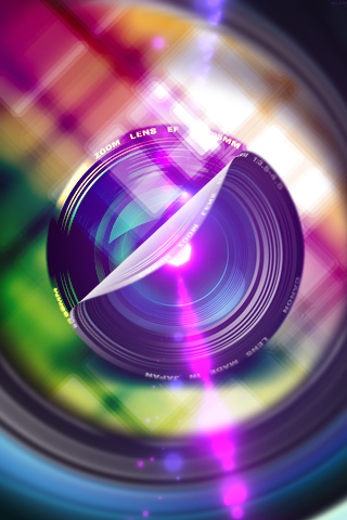 wallpaper iPhone Color Lens