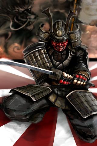 wallpaper iPhone Samurai
