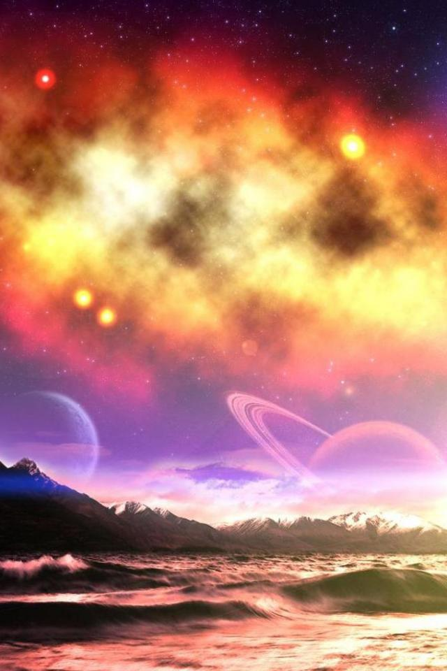 wallpaper iPhone Planetrise