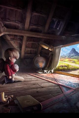 wallpaper iPhone Boy's Adventure