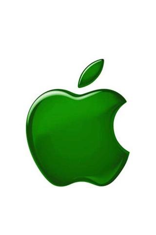 wallpaper iPhone Green Apple