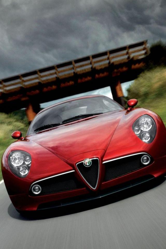 wallpaper iPhone Alfa Romeo 8C