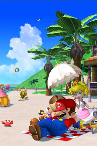 wallpaper iPhone Mario Sunshine