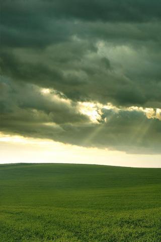 wallpaper iPhone Cloudy Fields