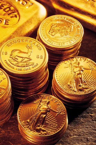 wallpaper iPhone Gold Coins