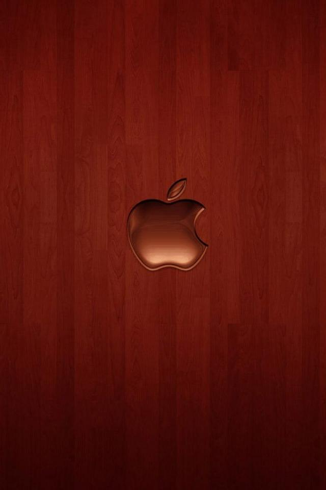 wallpaper iPhone Cherry Wood Apple