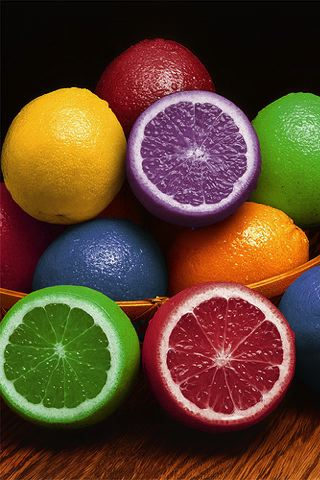 wallpaper iPhone Rainbow Citrus