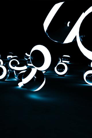 wallpaper iPhone Circular Light