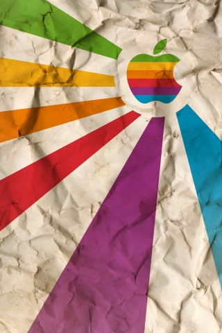 wallpaper iPhone Apple Paper Rainbow