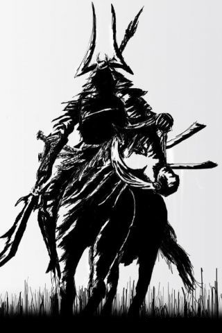 wallpaper iPhone Rough Samurai