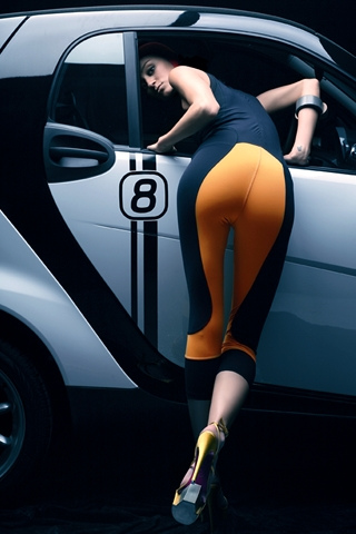 wallpaper iPhone Smart Fortwo Chick