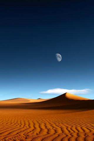 wallpaper iPhone Desert Moon