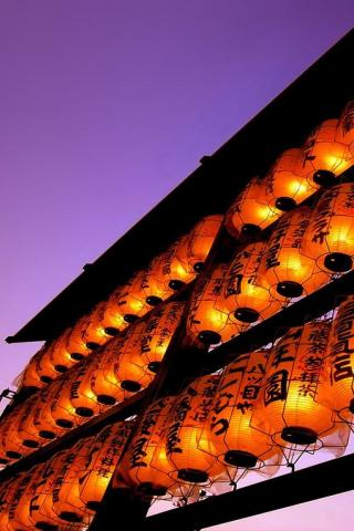 wallpaper iPhone Japanese Lanterns