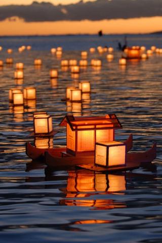 wallpaper iPhone Floating Lanterns