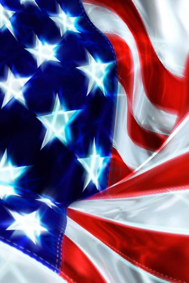 wallpaper iPhone Stars and Stripes