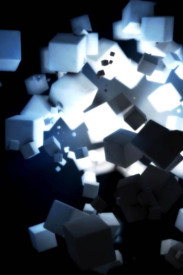 wallpaper iPhone White Cubes