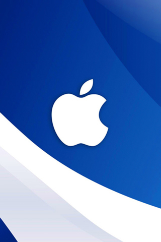 wallpaper iPhone Blue-White Apple