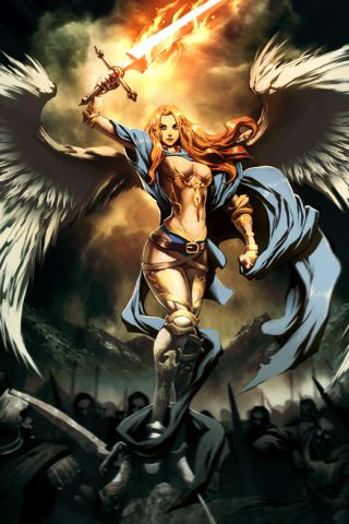 wallpaper iPhone Avenging Angel