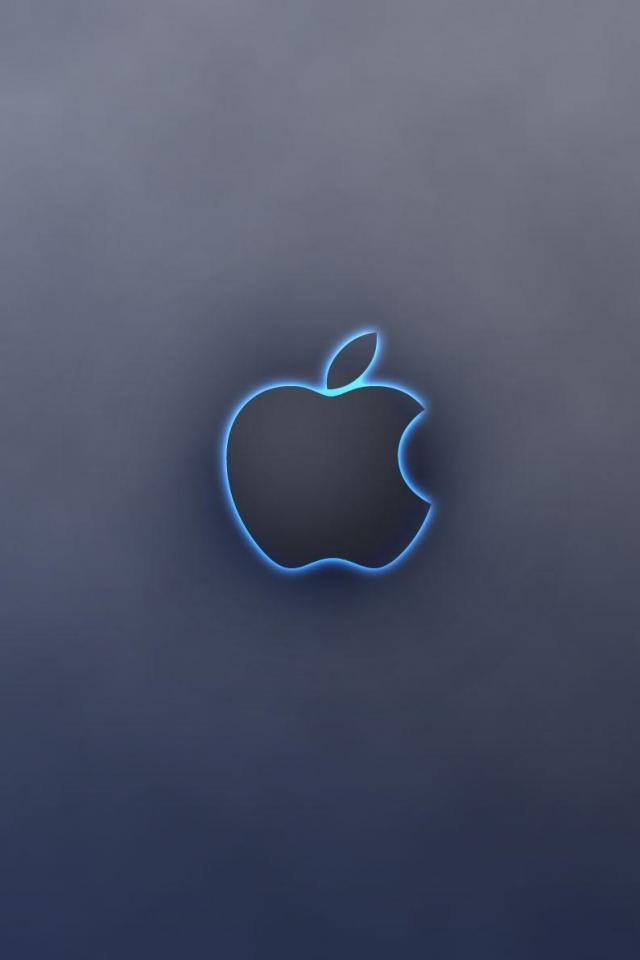 wallpaper iPhone Blue Glow Apple