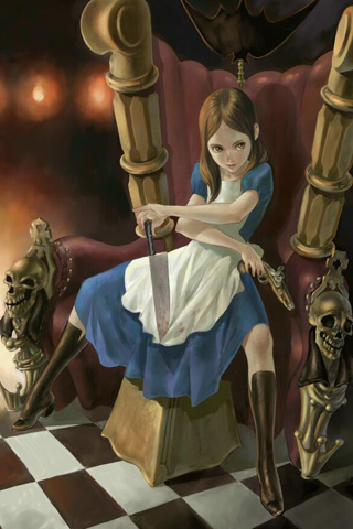 wallpaper iPhone Bad Alice