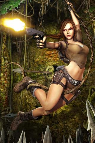 wallpaper iPhone Lara in the Jungle